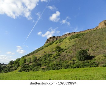 Rocky hills around Edinburg in Scotland