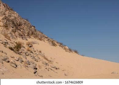 A Rocky Hillside In the Desert