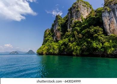 Rocky island at Andaman sea
