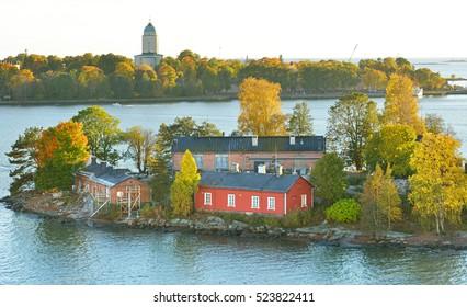 Rocky islands in Helsinki archipelago