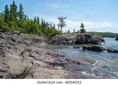 Rocky Lake Superior North Shore
