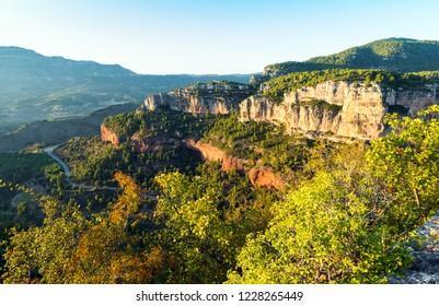 Rocky landscape in Siurana, Tarragona, Catalunya, Spain