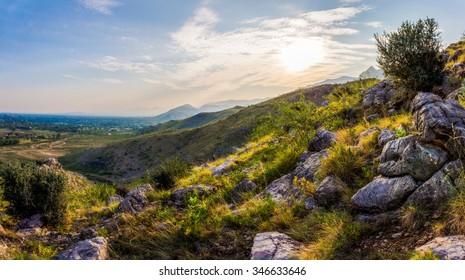 rocky mountain Khyber Pass in Northwest Pakistan
