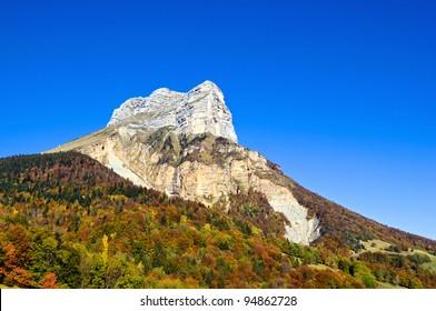 a rocky mountain near Grenoble