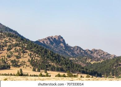 Rocky mountain peaks near Helena, Montana, USA.