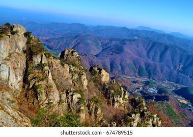 Rocky mountain range, South Korea