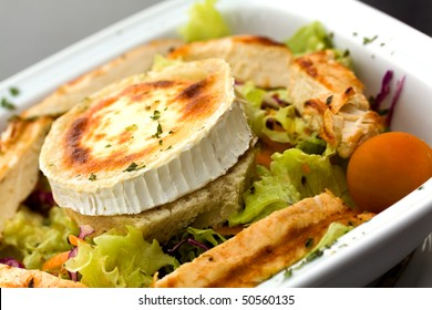 Rocky Mountain Salad with Slices of Chicken Breast