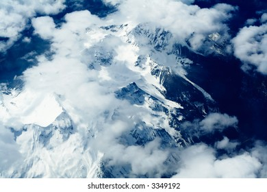 Rocky mountains aerial, North America
