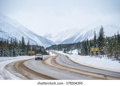 Rocky Mountains in Kootenay Park, British Columbia, Canada