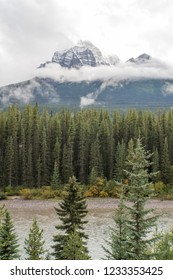 Rocky Mountains Landscape in Autumn around Canmore Canada
