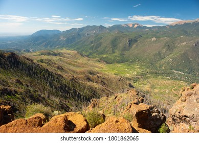 Rocky Mountains West Of Colorado Springs