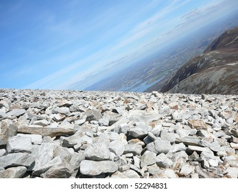 Rocky Mountainside with Tilted Horizon