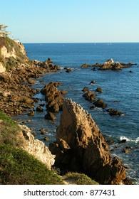 Rocky ocean shoreline