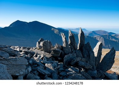 Rocky outcrop near the summit of Glyder Fawr