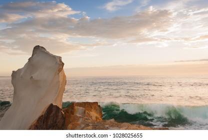 Rocky outcrop over ocean
