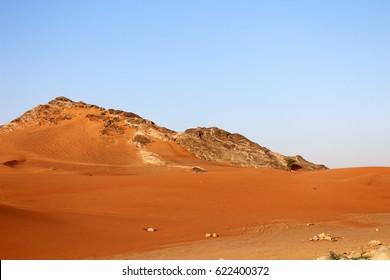 rocky outcrop sharjah desert
