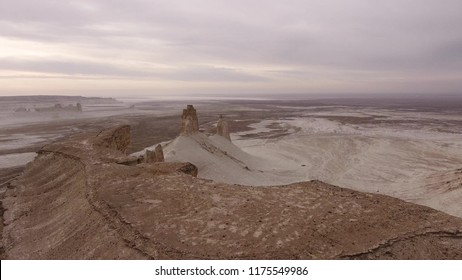 rocky outcrops in the desert