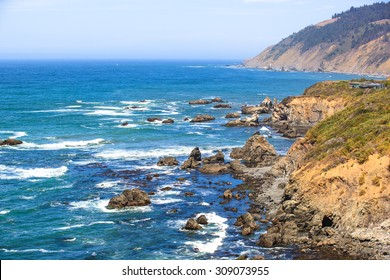 Rocky Pacific coast of Mendocino County, California