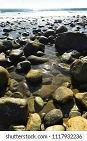 rocky Pacific Ocean shoreline Baja, Mexico