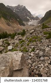 Rocky path to the chalaadi glacier, Mestia, Georgia
