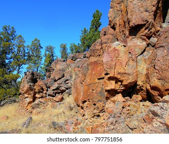 Rocky Red - Rock formations at Henderson Flat Rocks - Crooked River National Grassland - near Terrebonne, OR