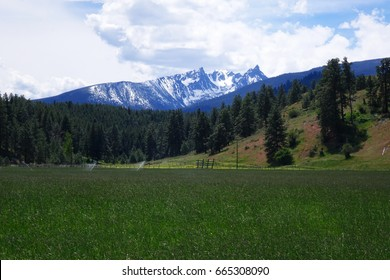 Rocky and rugged Trapper Peak is located in the Bitterroot Mountains near Darby, Montana.