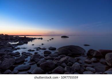 Rocky shore in the Baltic Sea