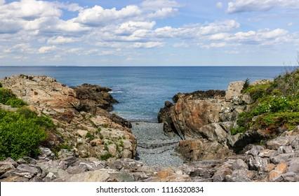 Rocky shore meets ocean