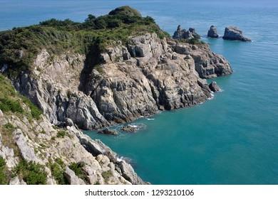 Rocky shore in Oedo Island, South Korea