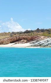 Rocky shoreline on Necker Island, British Virgin Islands