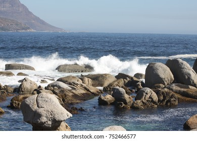 rocky shoreline in South Africa