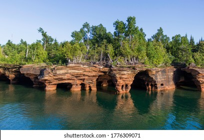 Rocky Shores of the Apostle Islands National Lakeshore Near the Wisconsin Shoreline of Lake Superior