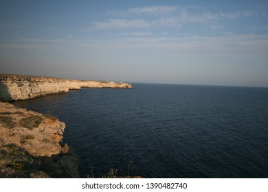 Rocky shores of the Black sea, Atlesh, Crimea, Russia.