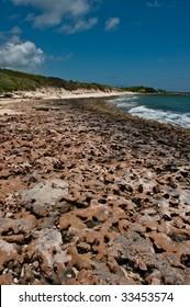 Rocky shores of Girt Bay, Eleuthera, Bahamas.