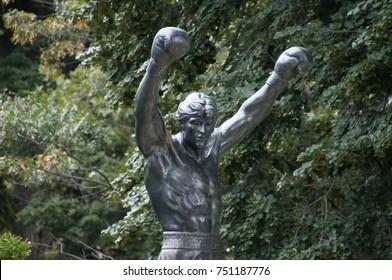 The Rocky Statue in Philadelphia
