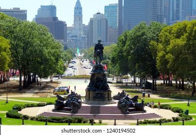 Rocky Steps, Philadelphia City, Pennsylvania, USA