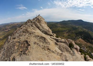 The rocky summit of Stonewall Peak.