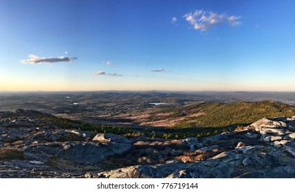 Rocky summit view of forested landscape