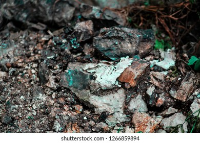 Rocky surface characterised by gravels and small rocks