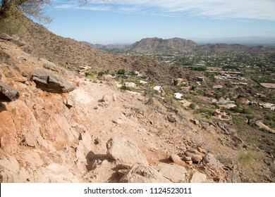 Rocky trail on Camelback mountain in Phoenix, Arizona