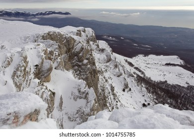 Rocky winter mountains