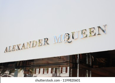 Rodeo Drive, Beverly Hills, CA. USA August 21,2018 Alexander McQueen store in the famous high fashion shopping district.
