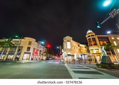 Rodeo Drive by night, California