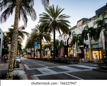 Rodeo Drive palms on the August 12th, 2017 - Los Angeles, LA, California, CA, USA