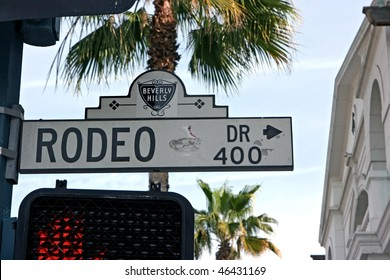 Rodeo Drive sign in Beverly Hills, California
