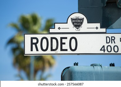 Rodeo Drive street sign in Los Angeles