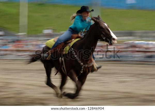 Rodeo: Ladies Barrel Racing Editorial Photo - Image of