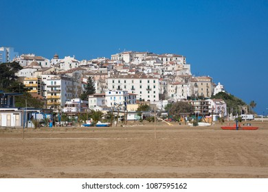 Rodi Garganico (Puglia, Italy) - View of the little picturesque village in south Italy from the beach