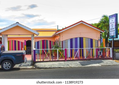RODNEY BAY, ST LUCIA, CARIBBEAN-6th SEPTEMBER 2017:-Rodney bay is the tourist main area in St Lucia with lots of hotels, the casino etc