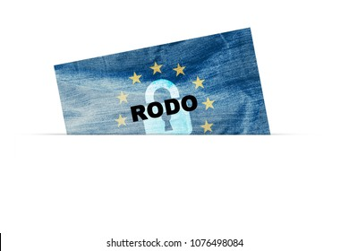 RODO concept. General Data Protection Regulation. New EU law from 2018.
